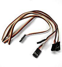 5 x Compatible Futaba Connector Wire Servo Lead 30cm 300mm Male Plug 1.2