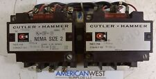 Cutler Hammer C50DN3 Size 2 Reversing Contactor w/ 120V coil - TESTED