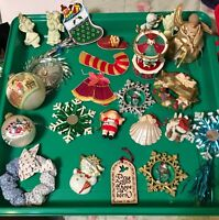 Lot of 25  VINTAGE Christmas Holiday ORNAMENTS