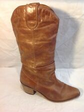 Schuh Brown Mid Calf Leather Boots Size 40
