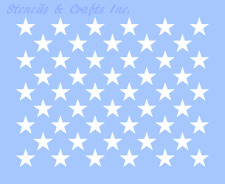 "1"" STAR STENCIL ""50 STARS"" AMERICAN FLAG PAINT COLOR ART TEMPLATE CELESTIAL NEW"