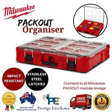 New Milwaukee PACKOUT Organiser Storage Box Tool Case Stackable Modular Toolbox