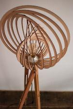Tripod Steh Lampe Dreibein Buche Design 60iger 70iger Holz Spiraldesign Laubholz
