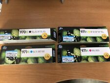 hp officejet 971XL cartridges New expired Black, Yellow, Cyan and Magenta