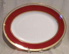 """Wedgwood Ulander Powder Ruby 15"""" Oval Serving Platter"""