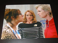 Jane Lynch & Molly Shannon SIGNED AUTOGRAPHED Glee PHOTO Lea Michelle Monteith