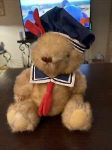 1984 Gorham John Paul July Bear of the Month Blue Sailor With Smock and
