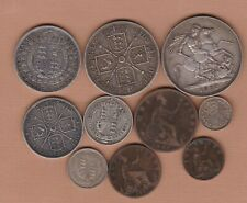 More details for 1887 victoria jubilee head ten coin set in fine to very fine condition