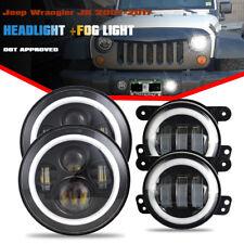 2007-2017 Jeep Wrangler JK Halo LED Headlight + Halo LED DRL Fog Light Combo Kit