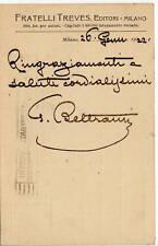 Cartolina Autografo di Giovanni Beltrami Pittore Scapigliatura Milano 1922