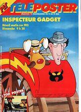 Télé PIF n°841 - 1985. Couverture INSPECTEUR GADGET.  Poster JAMES DEAN