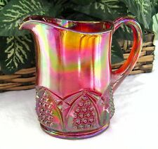 """Fenton ~~ ON SALE ~~ Red Carnival 4"""" Creamer """"BUTTON AND ARCH"""" circa 1993 ONLY"""