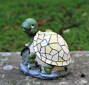 Large Solar Powered Decorative Garden Ornament Tortoise Turtle  Light Up Lamp