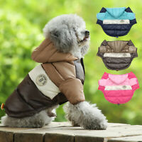 Winter Dog Waterproof Jacket with Hoodie Warm Padded Puppy Snow Coat Clothes XS