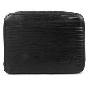LOUIS VUITTON zip around purseZip Around Noir coin purse Epi Black Black Epi...