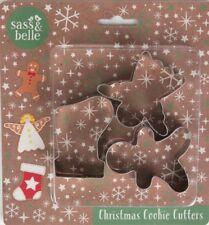 Set di TRE formine per biscotti di Natale Calza Pan Di Zenzero Uomo Angel
