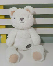 BYRON BEAR WHITE TEDDY BEAR HUG ME 35CM BEANS IN ENDS OF HANDS AND FEET BUM
