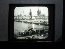 VINTAGE COLLECTIBLE GLASS PICTURE NEGATIVE Cologne's Cathedral and Town Hall