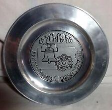 "11""  WILTON USA Pennsylvania Bicentennial 1776-1976 Collectible Pewter Plate PA"