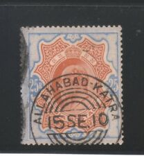 INDIA KING EDWARD 1909, 25Rs. SG147 USED STAMP.