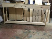 H90 W190 D33 BESPOKE CONSOLE HALL TABLE UNTREATED