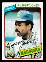 1980 Topps Ruppert Jones Autographed Card - Seattle Mariners TTM - #78