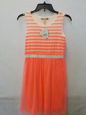 GIRLS SIZE 16 SPEECHLESS BRAND PINK & WHITE STRIPE TULLE DRESS NEW #1251