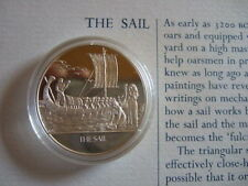 THE SAIL MANKIND INVENTIONS HALLMARKED SILVER PROOF MEDAL BY J PINCHES