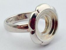 Authentic Kameleon Sterling Silver Flower Cup Ring Kr-22, Kr022  Size 8, New
