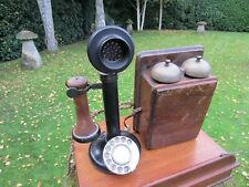 More details for original candlestick telephone gpo 150 with bell box bakelite in great shape vgc