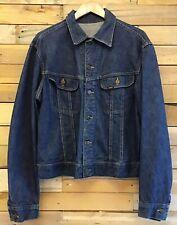 Lee Retro Dark Wash Blue Denim Western Jacket Size L