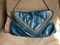 MATT & NAT Women's Handbag Purse Studded Hendrix Vegan Envelope Crossbody Jade