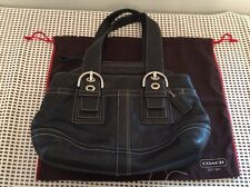COACH Authentic Black LEATHER Hand Bag # F0749-F10911