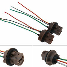 2x 7443 Bulb Socket Brake Turn Signal Light Harness Wire LED Pig Tail Plug 7440
