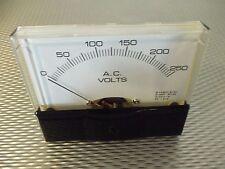 "AC. Panel METER 0 - 250v Volt  4"" X 3 1/2"" NEW For CB Radio Ham Amp Amplifier"