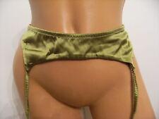 Victoria's Secret Silk Garter Belt Olive Green L $58