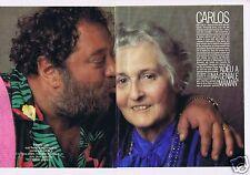 Coupure de presse Clipping 1988 Françoise Dolto mère de Carlos   (6 pages)