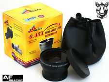 Z3u 37mm HD 0.45x Wide Angle Lens w/ Macro for Olympus Pen E-PM1 E-PM2 14-42mm