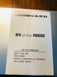 APA: Right You Are / Tavern / Scapin / etc Playbill Phoenix Theatre NY 1964 Roos