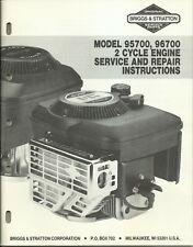 Briggs & Stratton 1987 Model 95700 96700 Engine Service & Repair Instructions