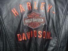 Blousons noirs Harley-Davidson en cuir pour motocyclette