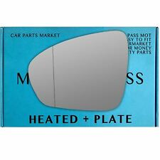 Left side Wide Angle mirror glass for Renault Megane mk4 2016-On heated plate