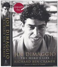 SIGNED Joe Dimaggio The Hero's Life by Richard Ben Cramer 2000 HC/DJ 1st/2nd