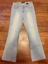 Bebe Low Rise Stretch Fit Flare Jeans Size 30 Inseam 32 Light Blue