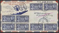 1939 AAMC #3925f Botwood Newfoundland to Foynes Ireland Flight Cover, Registered