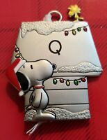 Snoopy and Woodstock Hallmark Pewter Ornament Peanuts Personalized Letter Q New
