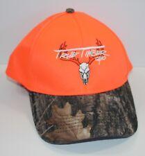 True Timber Camo Cap Hat Blaze Orange Camo Adjustable Hook and Loop