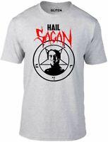 Hail Sagan T-Shirt - Funny t shirt Carl physics astronomer space retro satan