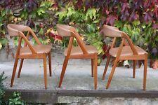 3 Kai Kristiansen Teak/Leder Dining-Chairs Modell 31 Danish Design