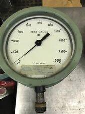 Vintage Ashcroft Bronze Tube Brass Socket 0 5000 Test Gauge